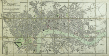 An entire new plan of the cities of London & Westminster; with the Borough of Southwark: 1806
