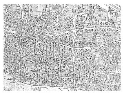 City map image made from the Copperplate Map: 1559