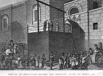 View of an execution before the Debtor's Door of Newgate: 1809