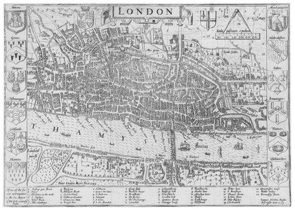 Plan of London in 1593