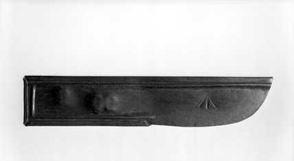 Steel knife from Holloway prison: 20th century
