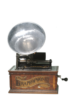 Wax cylinder gramophone: 19th century
