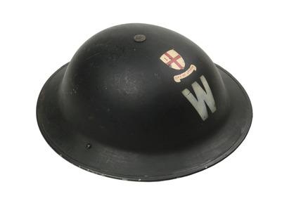 City of London ARP warden's helmet: 20th century