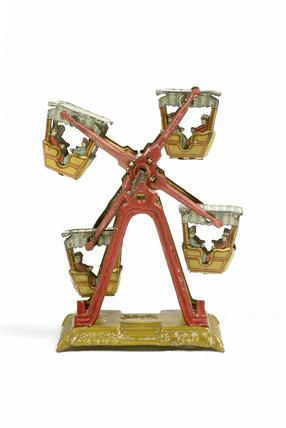Tinplate mechanical penny toy ferris wheel: 20th century