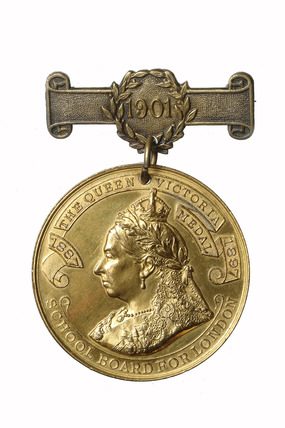 London County Coucil  school attendance medal: 1901