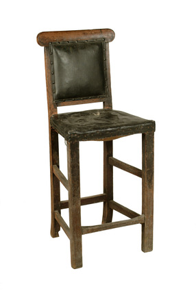 Wooden teacher's high chair: 20th century