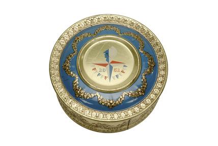 Souvenir biscuit tin: 1951