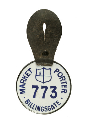 Market porter's badge: 20th century