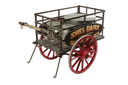 Three-wheeled dairyman's handcart: 20th century