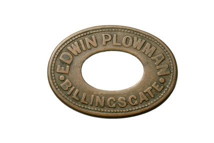 Billingsgate market porters token: 20th century
