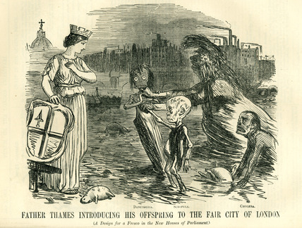 Father Thames, Introducing his offspring to the Fair City of London: 1858