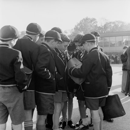 Schoolboys at Kynaston Technical School: 1957