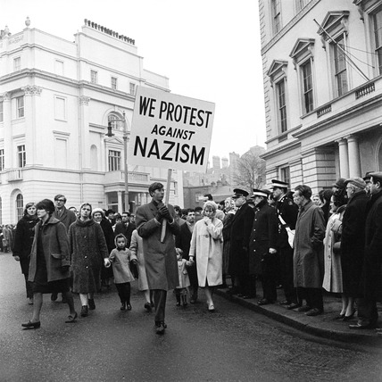 An anti-Nazi demonstration at Belgrave Square: 20th century