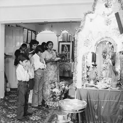 Worshippers at the Sai-Hindu Centre at Golders Green: 1973