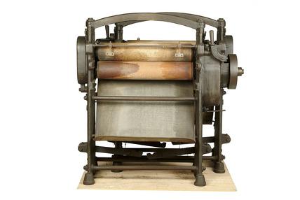 Iron frame laundry mangle: 20th century