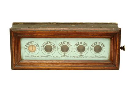 Servant's bell indicator: 20th century