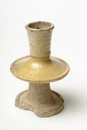 Surrey / Hampshire border whiteware candlestick: 16th-17th century