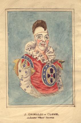 J. Grimaldi as Clown at Sadlers Wells Theatre: 1800-1840