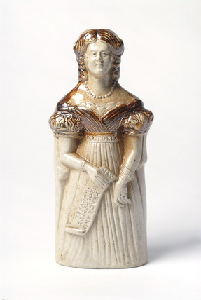Queen Victoria spirit flask: c. 1837