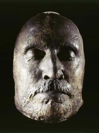 Oliver Cromwell's plaster death mask: 1658