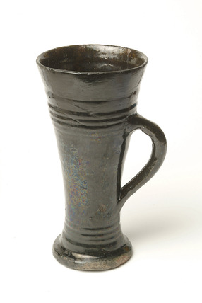 Post-medieval black-glazed ware tyg.
