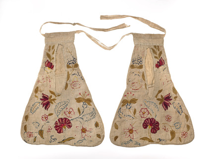 Pair of Georgian pockets: 18th century