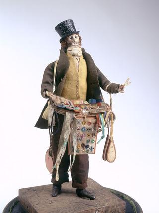 Male pedlar doll or London Cry: 19th century