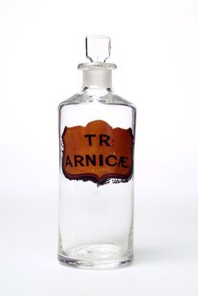 Clear glass chemist's jar: c.1880