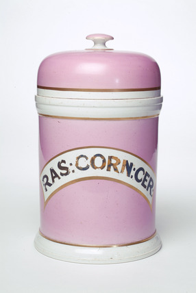 Chemist's powder pot: 19th century