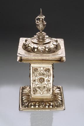 A silver-gilt standing salt: 1562