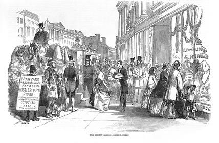 The London Season, Regent Street: 1849