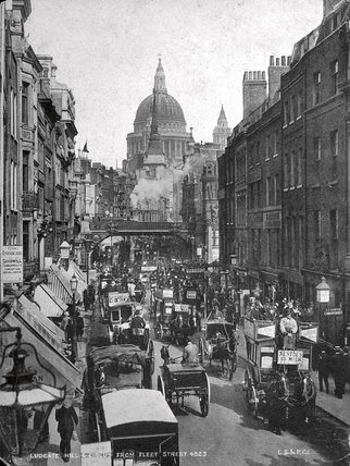 Ludgate Hill and Circus from Fleet Street: 19th century