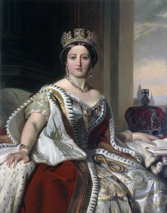 Portrait of Queen Victoria: 1859