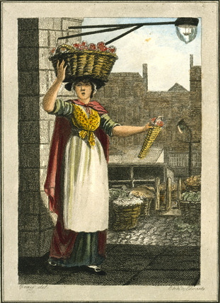 Strawberries, Covent Garden: 1804