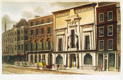 The exterior of Bullock's Museum: 1815