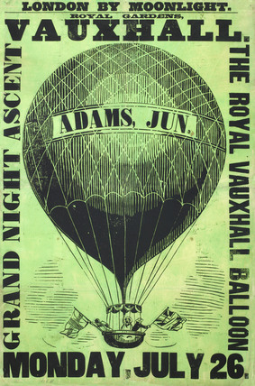 Vauxhall Gardens poster: 1858