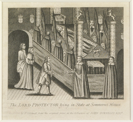 The Lord Protector lying in State in Somerset House: 1770-1790