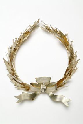 A silver-gilt wreath: 1903