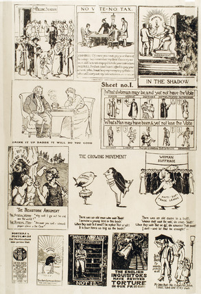 One of two suffragettes' advertising pages: 1913