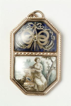 Memorial pendant: late 18th century