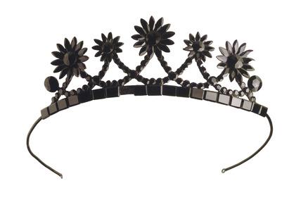 Child's glass tiara: 19th century