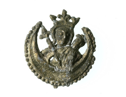 Pewter pilgrim badge of Our Lady of Willesden: 15th century