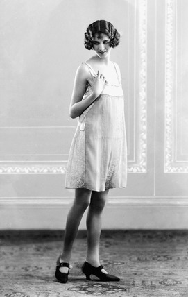 Image of a woman modeling lingerie: 1923