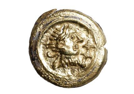 Roman embossed portrait stud