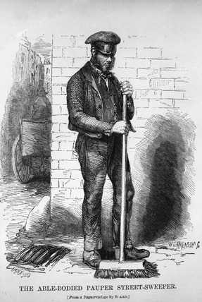 The able-bodied pauper street-sweeper: 1851