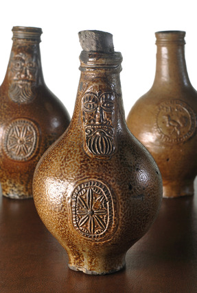 Selection of Frechen Bartmann jars: late 17th century