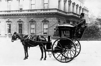 A Hansom cab: 19th century