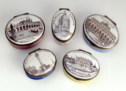 Selection of enamel boxes: 18th century