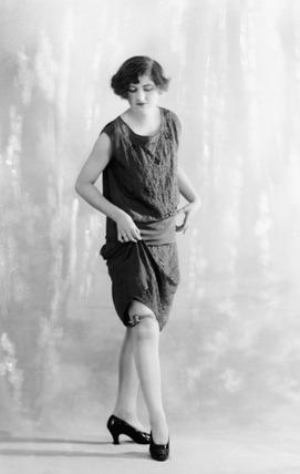 Woman modeling lingerie: 1926