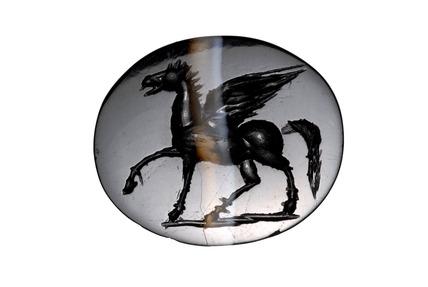Roman intaglio depicting Pegasus
